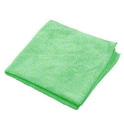 "MicroWORKS® Standard Microfiber Towel - 16"" x 16"", Green"