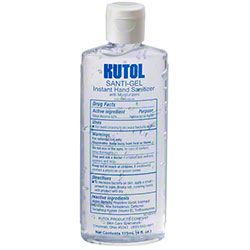 Kutol Santi-Gel Instant Hand Sanitizer -4 oz. Squeeze Bottle