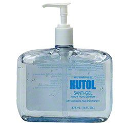 Kutol Santi-Gel Instant Hand Sanitizer - 16 oz. Pump Bottle