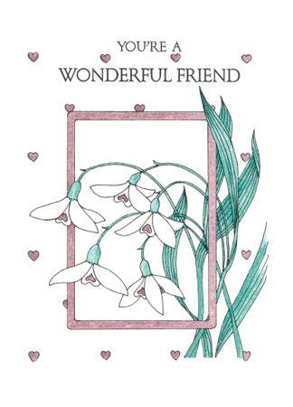 F219 YOU'RE A WONDERFUL FRIEND