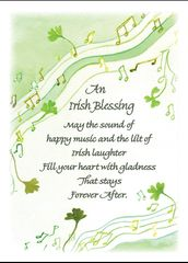 CE352 AN IRISH BLESSING - ST. PATRICK'S DAY