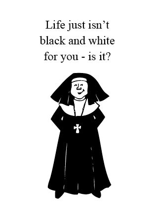 NUNS6 BLACK AND WHITE