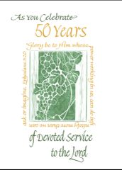AO112 AS YOU CELEBRATE 50 YEARS OF DEVOTED SERVICE TO THE LORD