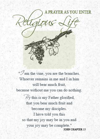 LS100 AS YOU ENTER RELIGIOUS LIFE