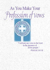 LS221 AS YOU MAKE YOUR PROFESSION OF VOWS