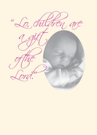 "N476 ""LO, CHILDREN ARE A GIFT OF THE LORD"""