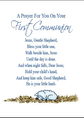 N707 A PRAYER FOR YOU ON YOUR FIRST COMMUNION