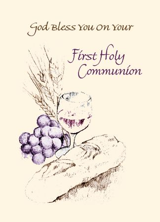 N761 GOD BLESS YOU ON YOUR FIRST HOLY COMMUNION