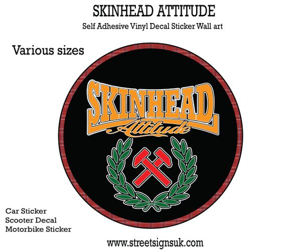 Skinhead Attitude self adhesive print and cut self adhesive vinyl decal  sticker