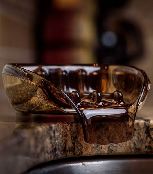 """Soapseat - Chrome/Sienna """"Finally the Perfect Soap Dish"""""""