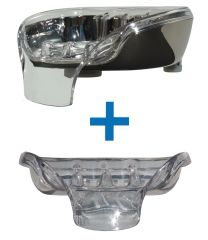 Bundle Deal: Chrome Soapseat with Spare Tray - pick your colors