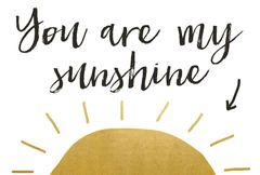 Gift Postcard 'you are my sunshine'