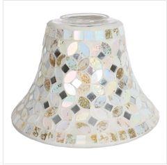 Cream & Gold Candle Jar Lamp Shade