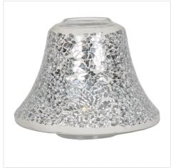 Silver Crackle Candle Lamp Shade