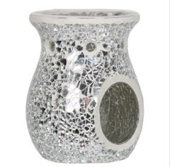 Silver Crackle Wax Melt Burner