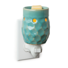 Pluggable Wax Warmer Honeycomb Turquoise