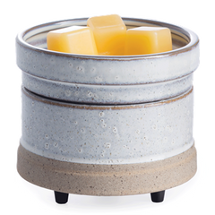 2-in-1 Wax & Candle Warmer Rustic White