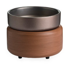 2-in-1 Wax & Candle Warmer Pewter Walnut