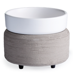 2-in-1 Wax & Candle Warmer Grey Texture
