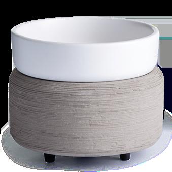 2-in-1 Wax & Candle Warmer Grey Texture