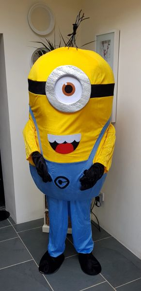 c16f65e12 Kids party cartoon character mascot hire Minions UK DELIVERY | Mascots for  hire all you children's favorites over 100 to pick