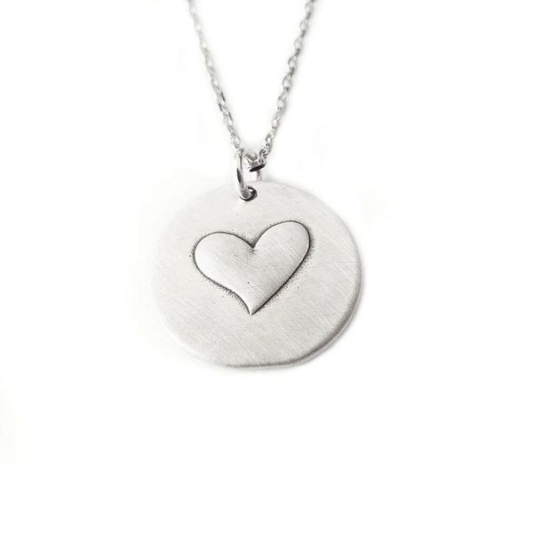 Sterling Silver Heart Small Pendant Necklace Flyingtutu Jewelry