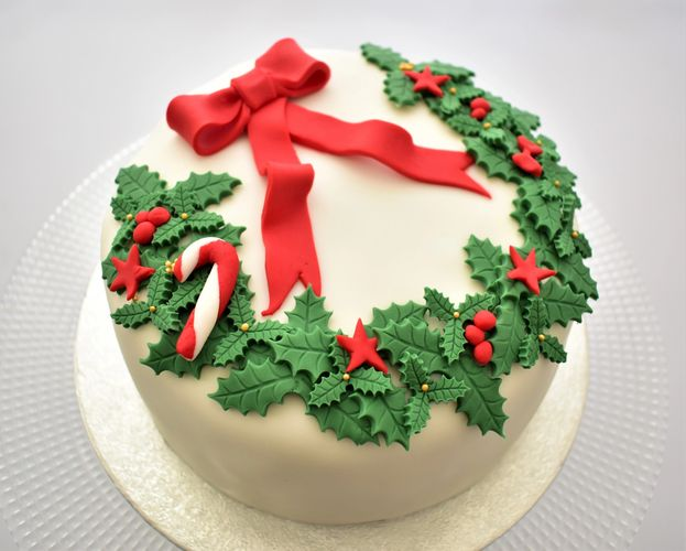Christmas cake full of brandy and organic dairy perfect for celebration in vienna austria