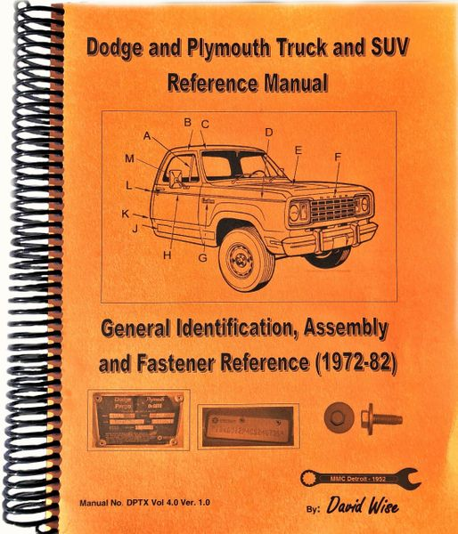 Dodge and Plymouth Truck and SUV Manual (DPTX Vol 4)