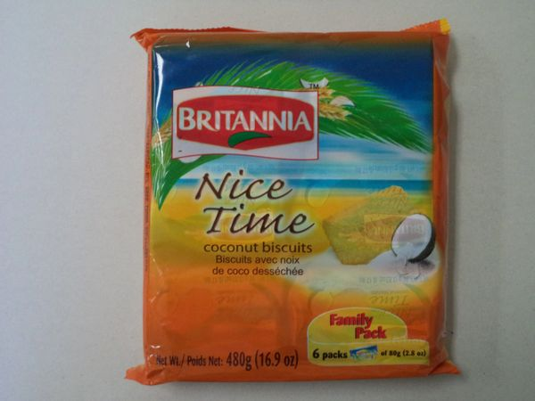 Nice Time Coconut Biscuits Britannia 480 g