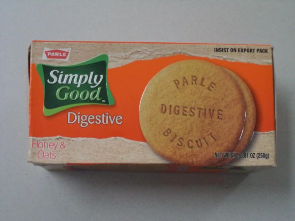 Simply Good Digestive Honey & Oats Biscuits Parle 250 g