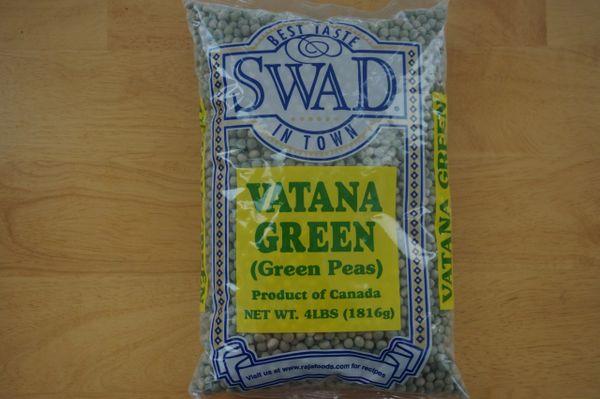 Vatana Green (Green Peas, Swad, 4lbs)