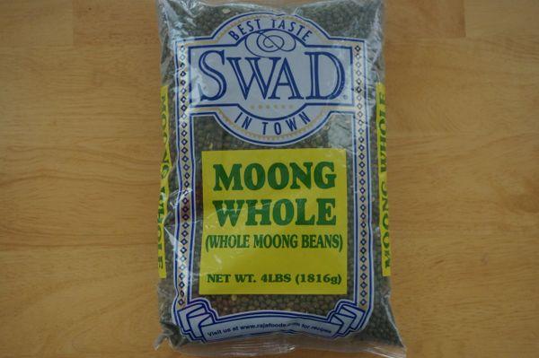 Moong Whole (Whole Moong Beans), Swad, 4 Lbs