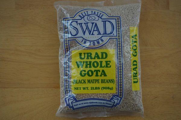 Urad Whole Gota (Black Matpe Beans), Swad, 2 Lb