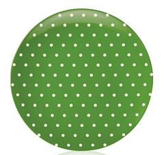 kate spade new york® SALUT! Green Cream Dots Melamine Salad Plate