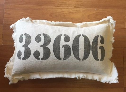 Tampa zip code pillows