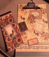 Crafting A Custom Designed Clipboard, Notebook & Pen Set