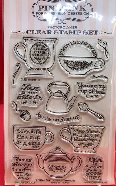 Tea Themed Clear Stamp Set