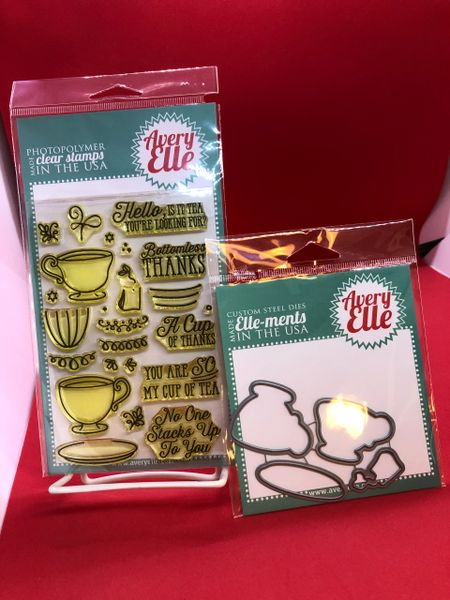 """Tea Time"" Stamp & Die Set"