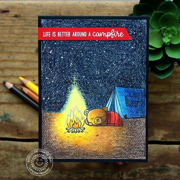 Critter Campout Stamp & Die Set