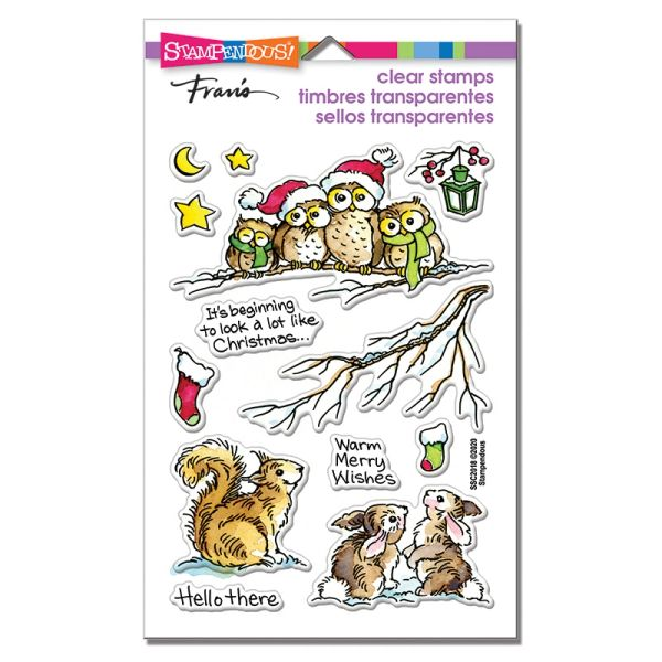 """Critter Christmas"" Clear Stamp Set"