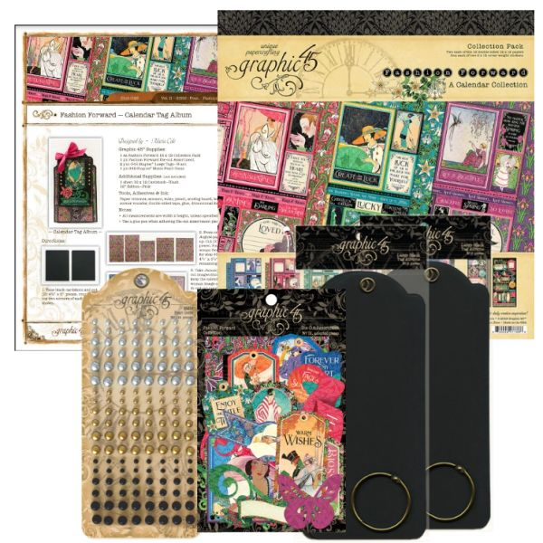 Graphic 45 Fashion Forward Tag Album Kit