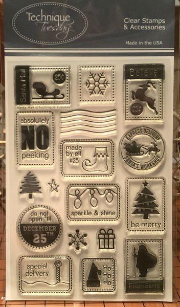"""""""Santa Mail"""" Clear Stamp Set"""