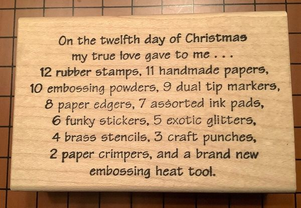On The Twelfth Day...Stamping Humor
