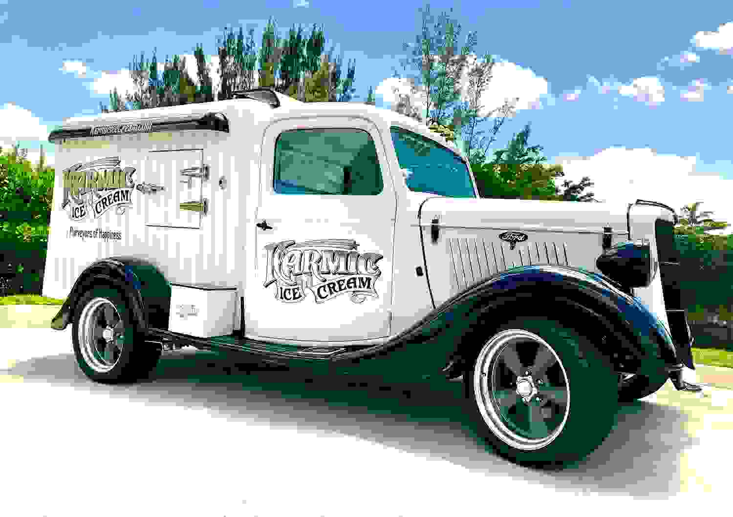 1935 Hot Rod Ice Cream truck rental in Broward, Dade and Palm Beach Counties
