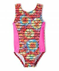 Girl Power tie dye print perfect fit leotard