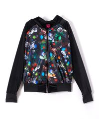 Luxe velvet space bomber jacket