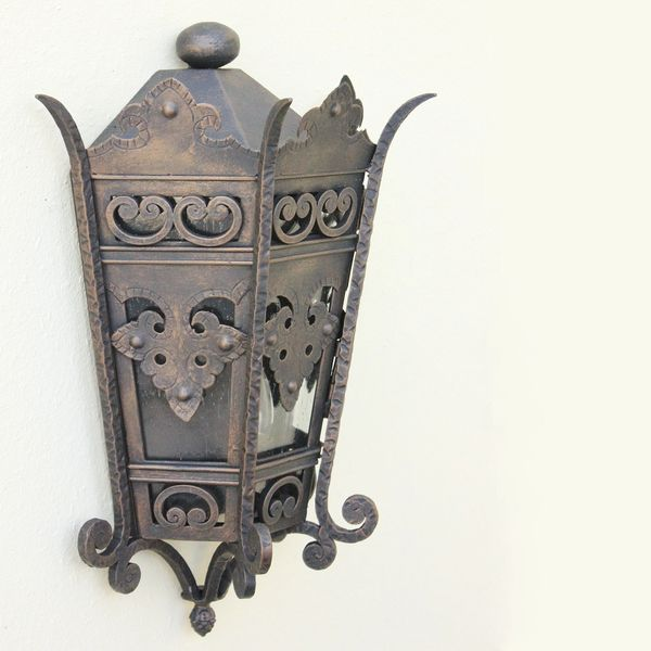 7206 2 Spanish Revival Outdoor Exterior Lighting Lantern