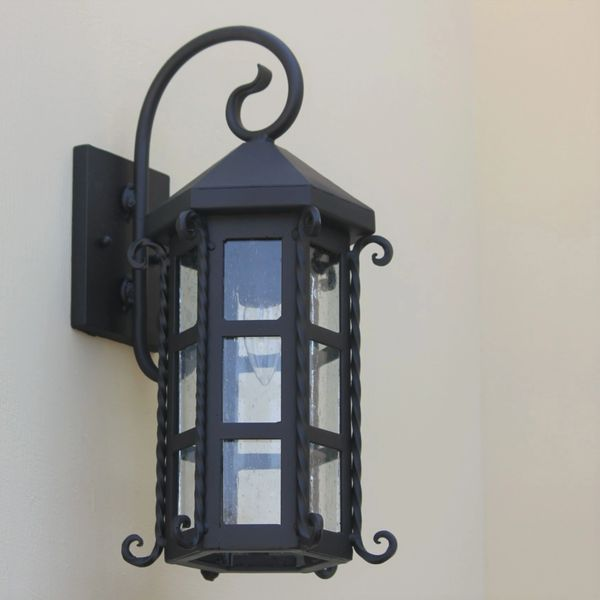 7095 1 Spanish Style Outdoor Wall Light Spanish Revival