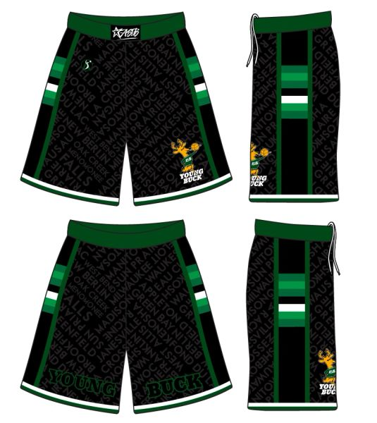 (BLACK) Young Buck Shorts