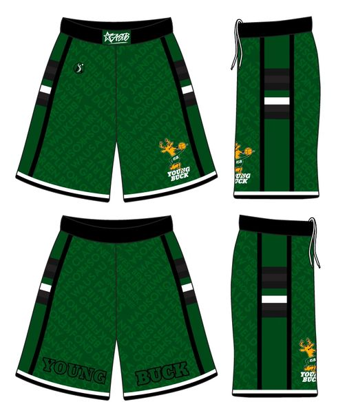 (GREEN) Young Buck Shorts